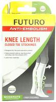 Futuro Anti-Embolism Knee Length Stockings Closed Toe White