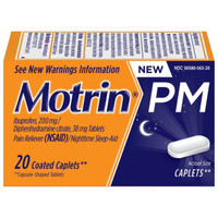 Motrin PM Pain Reliever Caplets 20 ct