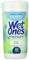 Wet Ones Sensitive Skin Hand Wipes 40 Count Canister