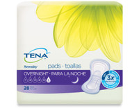 TENA Incontinence Pads for Women, Serenity Overnight, 28 Count 3 packs