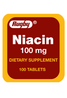 Rugby Niacin 100 mg Dietary Supplement 100 Tablets