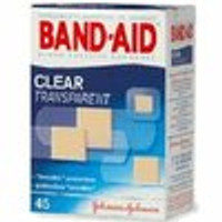 Band-Aid Clear Adhesive Bandages, Clear Comfort Flex, 45