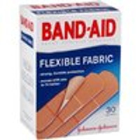 Band Aid, Flexible Fabric Adhesive Bandages, Assorted - 30 each