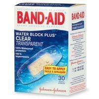 Band-Aid Water Block Plus Clear Transparent Bandages --- 30 each