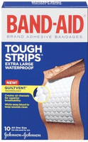 B-A Tough Wtrproof Xl Size 10ct Band-Aid Extra Large Waterproof Tough Strips
