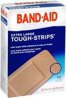 Band-Aid Bandages Tough Strips, Extra Large - 10 each