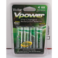 """""""AA"""" RECHARGABLE 1.25V NIMH BATTERIES, PRE-CHARGED, 2100 MAH, 4/PACK"""