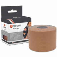 """BODY SPORT PHYSIO TAPE, 1"""" X 5-1/2 YARDS, NATURAL, LATEX FREE, WATER RESISTANT"""