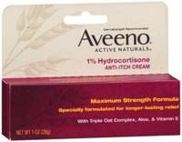 Aveeno Maximum Strength 1% Hydrocortisone Anti-Itch Cream Pure Oat Essence 1 Oz
