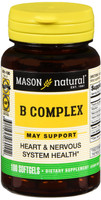 Mason Vitamin B Complex Multivitamin Softgel 100 Count Heart and Nervous System Health