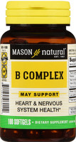 Mason B Complex Multivitamin Softgel 100 Count Heart and Nervous System Health