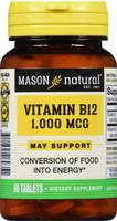 Mason Naturals Vitamin B-12 cyanocobalamin 1000 Mcg 60 Tablets