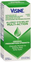 Visine Allergy Relief Multi-Action Antihistamine Eye Drops Red Itchy Eyes 0.5 fl. oz