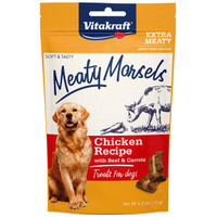 RA  Meaty Morsels Treats for Dogs - Chicken Recipe with Beef & Carrots - 4.2 oz