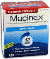 Mucinex Maximum Strength Expectorant Ext Release Bi-Layer Tablets 28 ct