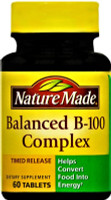 Nature Made Balanced B-100 Tablets Timed Release 60 ct