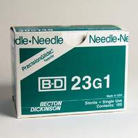 BD Needle Only 23 Gauge 1 inch 100/box (10 box case) 305145