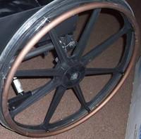 "Drive Wheel, 24"" Bronze Hand Rim Cirrus,1/ea"