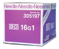 BD Needle Only 16 Gauge 1 inch 100/box (305197)