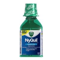 Vicks NyQuil Cold & Flu Nighttime Relief Original Flavor Liquid 12 fl oz