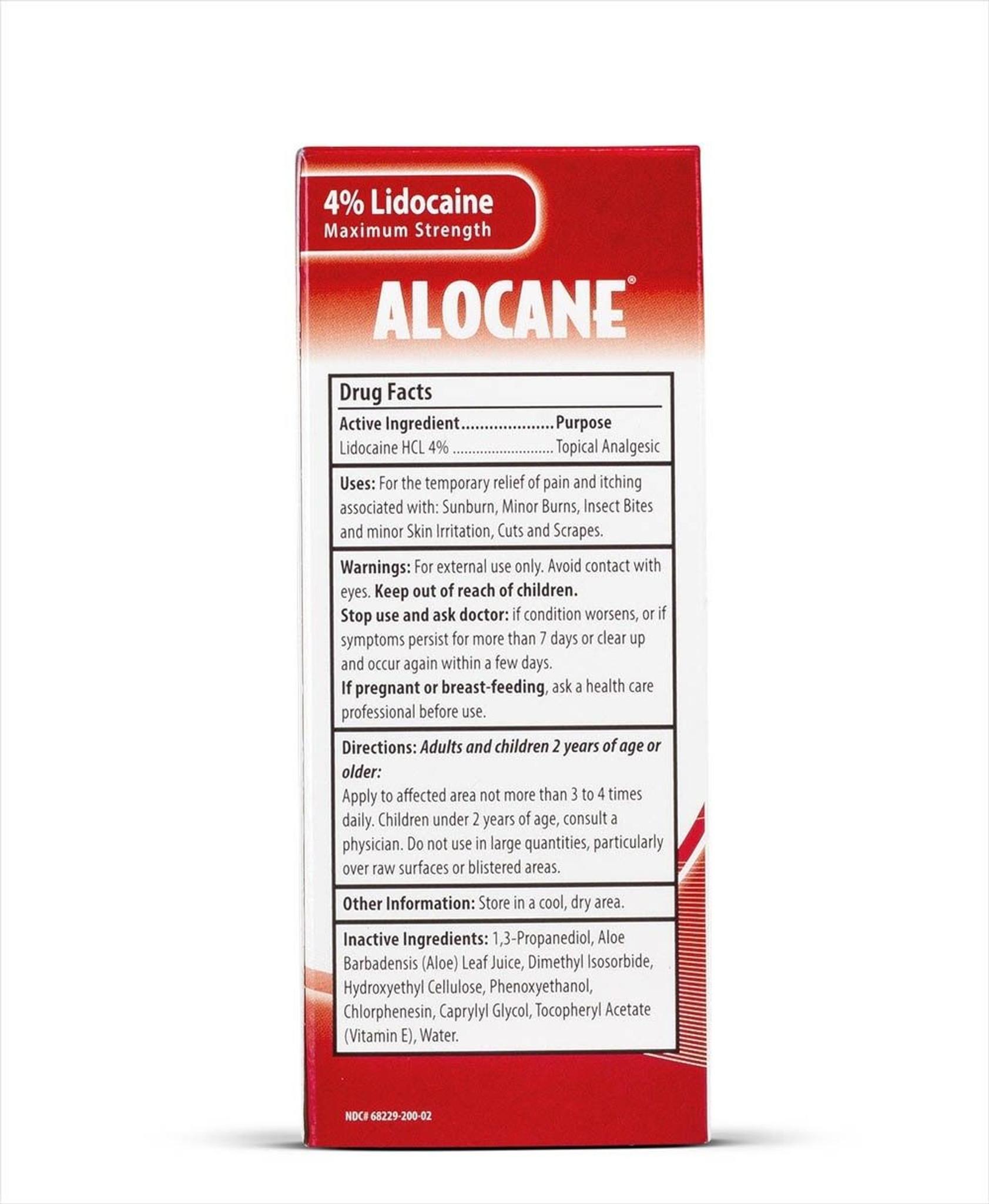 Alocane Maximum Strength Emergency Burn Gel 2 5 oz