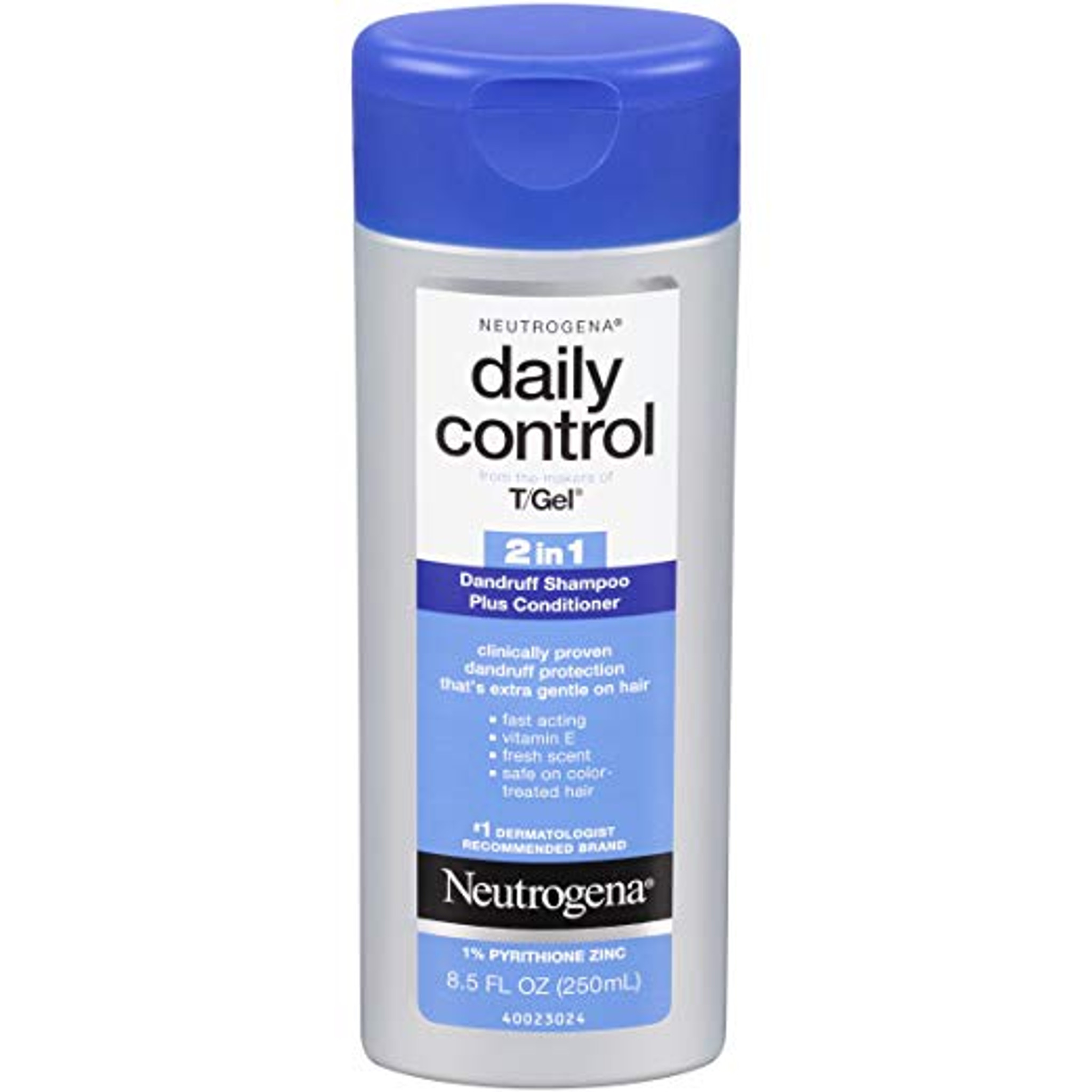 Neutrogena T Gel Daily Control 2 In 1 Anti Dandruff Shampoo Plus Conditioner With Vitamin E And Pyrithione Zinc Fast Acting Relief For Scalp Itching And Flaking 8 5 Fl Oz
