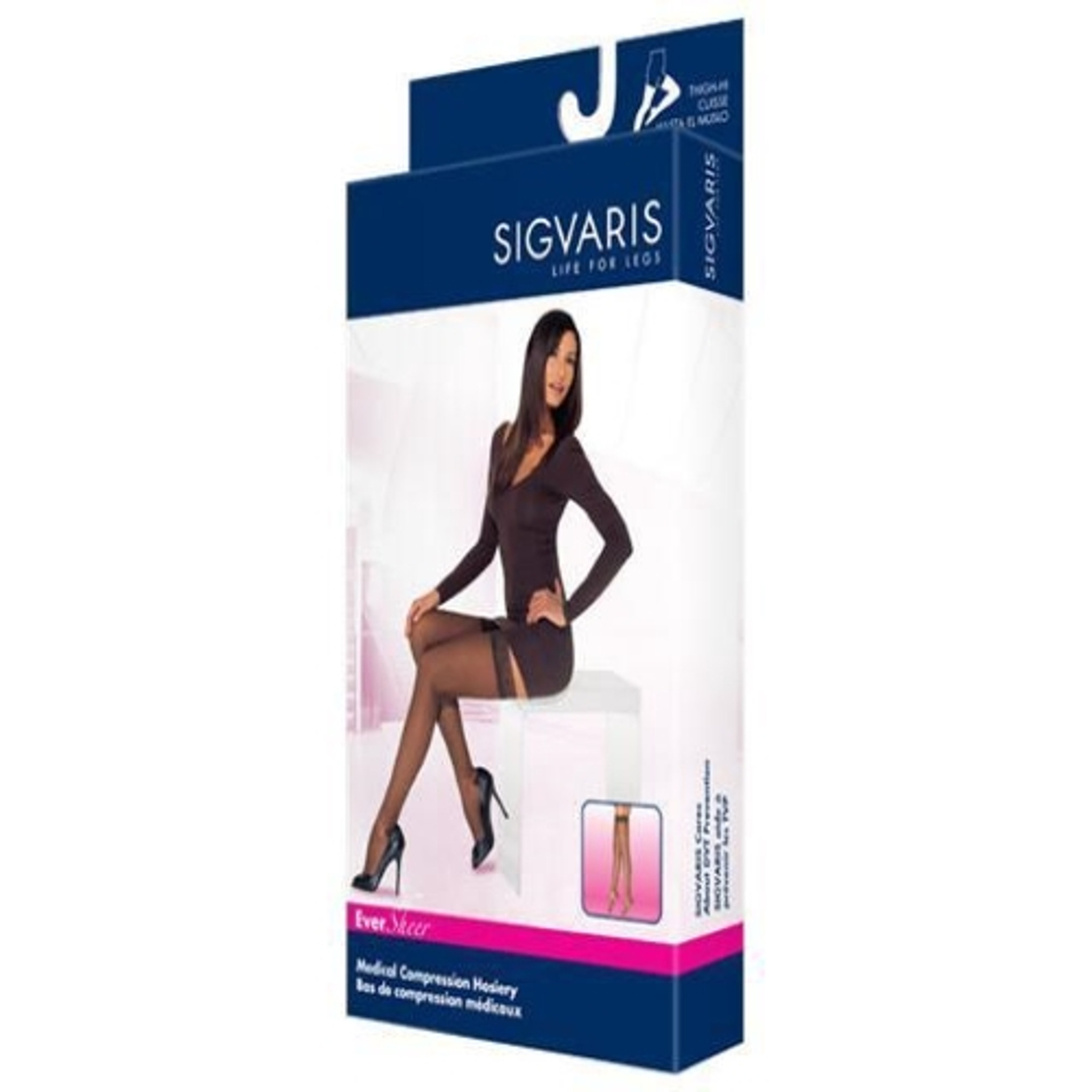 43b024e9c Sigvaris 780 EverSheer 20-30 mmHg Women s Closed Toe Thigh Highs-782N