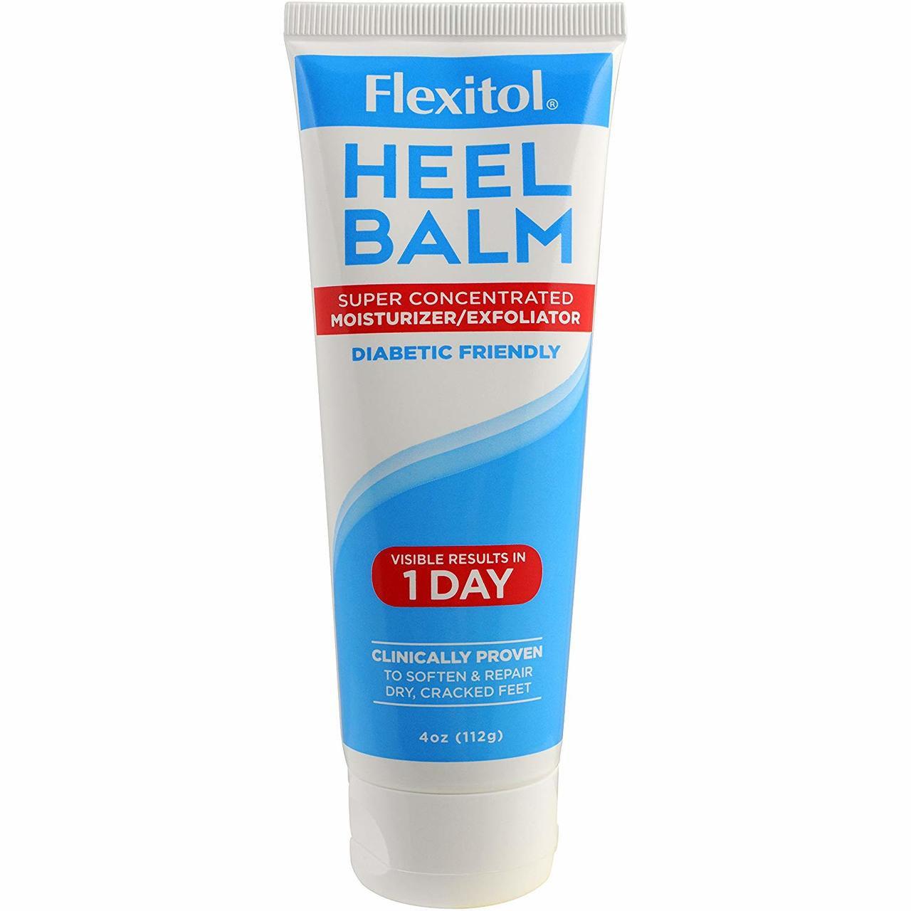 Flexitol Heel Balm 4 Oz Tube Rich Moisturizing Exfoliating Foot
