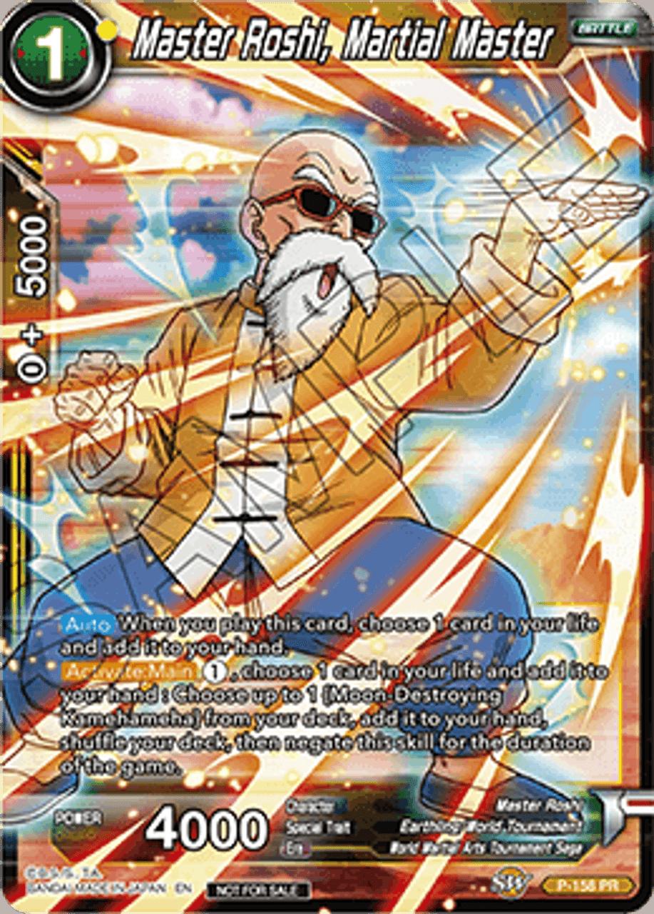 Forged of Will TB1-076 Foil Alternate Art Promo Dragon Ball Super Master Roshi