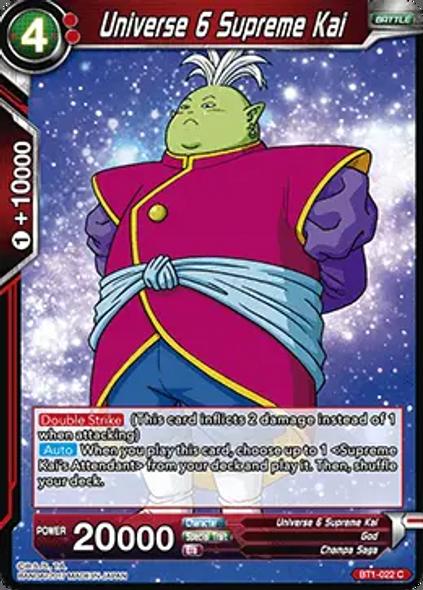 BT1-022 Universe 6 Supreme Kai