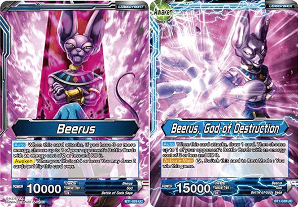 BT1-029 Beerus/Beerus, God of Destruction