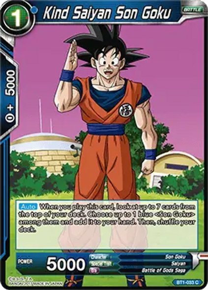 BT1-033 Kind Saiyan Son Goku