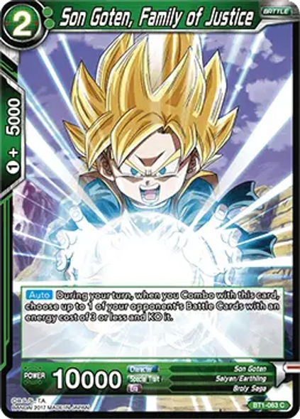 BT1-063 Son Goten, Family of Justice