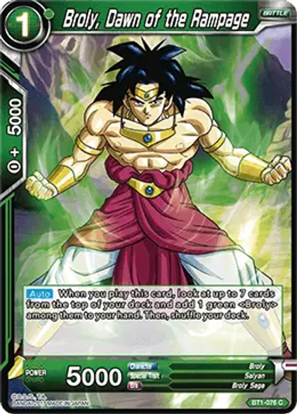 BT1-076 Broly, Dawn of the Rampage