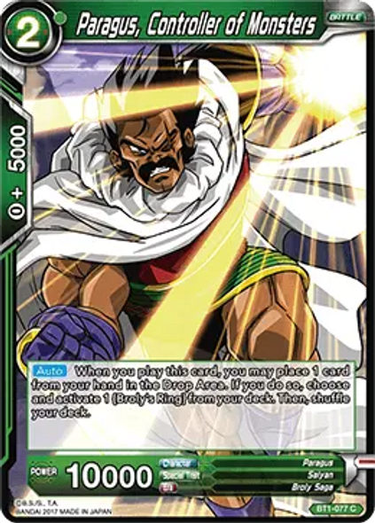 BT1-077 Paragus, Controller of Monsters