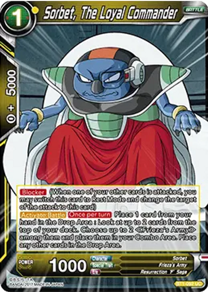 BT1-092 Sorbet, The Loyal Commander