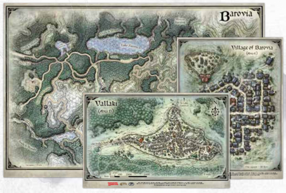 D&D Curse of Strahd Barovia Vinyl Map Set (On Demand)