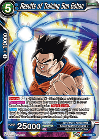 TB1-028 Results of Training Son Gohan