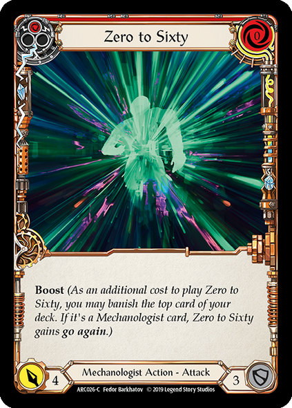 ARC026-C Zero to Sixty (Red) - Rainbow Foil