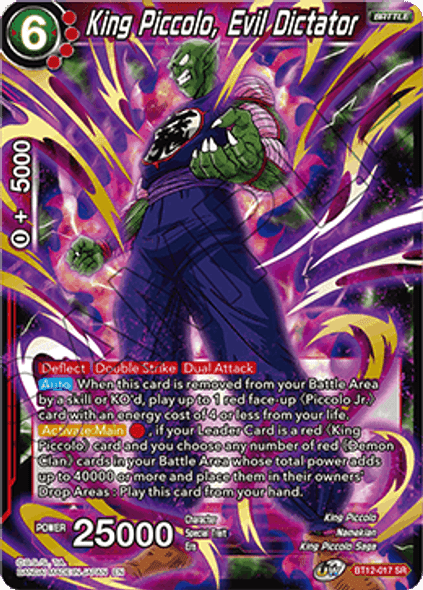 BT12-017 [SR] King Piccolo, Evil Dictator