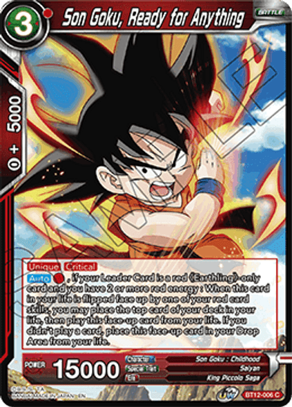 BT12-006 [C] Son Goku, Ready for Anything - Foil