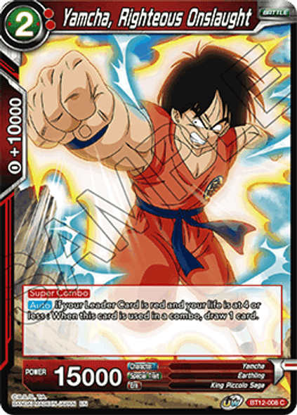 BT12-008 [C] Yamcha, Righteous Onslaught - Foil