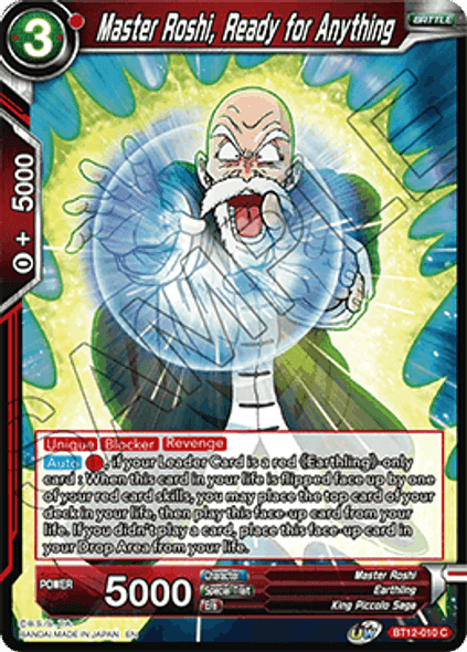 BT12-010 [C] Master Roshi, Ready for Anything - Foil
