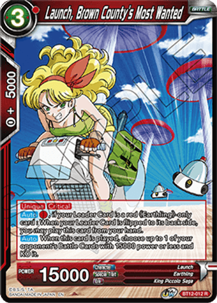 BT12-012 [R] Launch, Brown County's Most Wanted - Foil