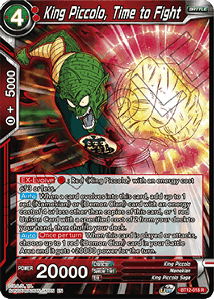 BT12-018 [R] King Piccolo, Time to Fight - Foil