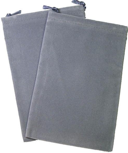 Dice Bag Suedecloth Large Grey