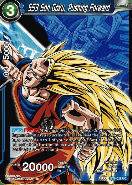 BT6-029 SS3 Son Goku, Pushing Forward (Alternate)