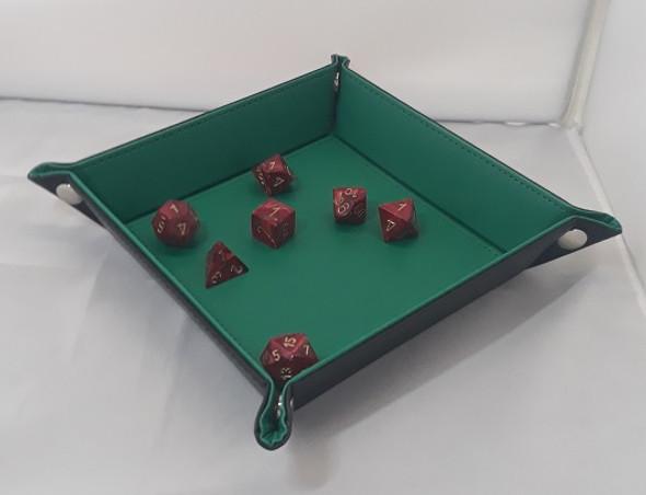 Folding Dice Tray (Green)
