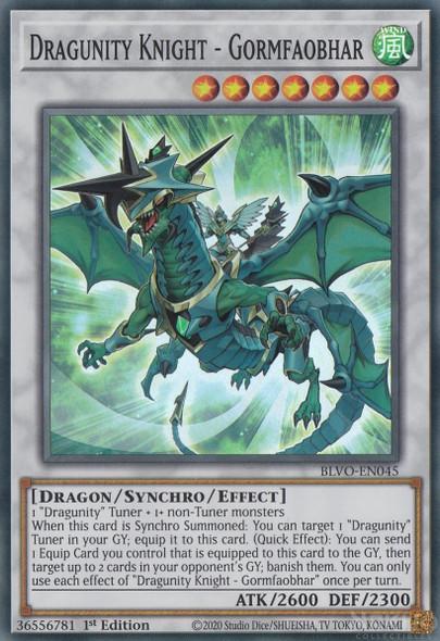 Dragunity Knight - Gormfaobhar BLVO-EN045  (Super Rare)