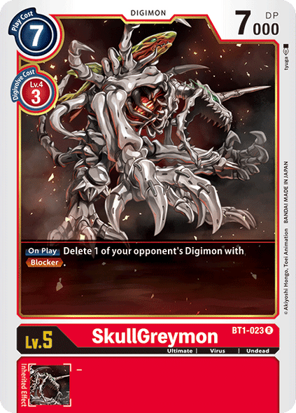 BT1-023 Skull Greymon  ( Rare)
